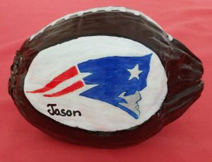 Sports Team Logo Painted Coconut