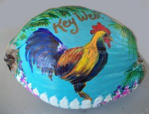 Key West Rooster Sail Painted Coconut