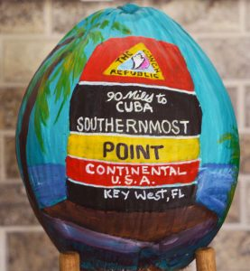 Southernmost Point Painted Coconut