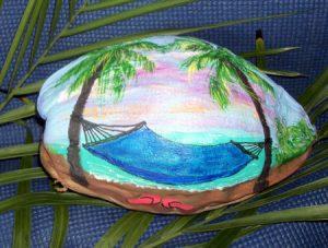 Coconut Hammock Painted Coconut