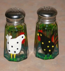 Key West Chickens Salt Shakers