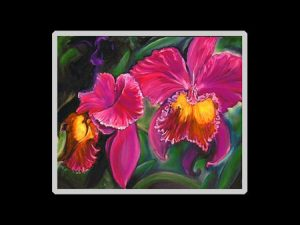 Double Cattleya Orchid Print