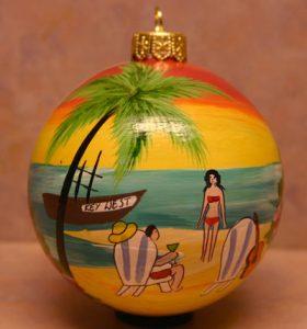 Key West Beach Christmas Tree Ornament