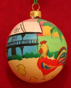 Key West Chicken Christmas Tree Ornament