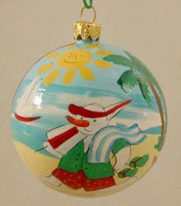 Frosty Christmas Tree Ornament