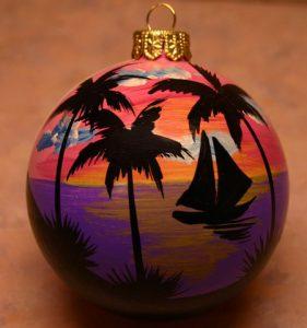 Sunset Sail Christmas Tree Ornament