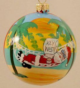Santa in a Hammock Sleeping Santa Christmas Tree Ornament