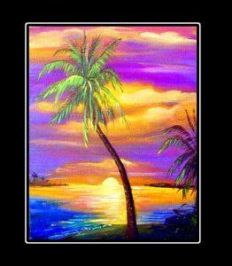 Lone Palm Matted Print