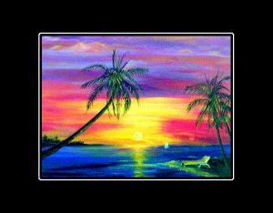 Sunset Lounge Matted Print