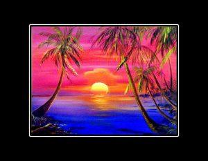 Sunset Meltdown Matted Print