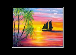 Sunset Sail Matted Print