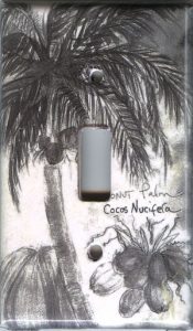 Coconut Palm Tree Switch Plate Cover