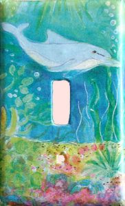 Dolphin Switch Plate Cover