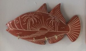 Brown Sunset Fish Key Hook