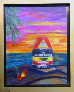 Key West Rooster - Southernmost Point Painting