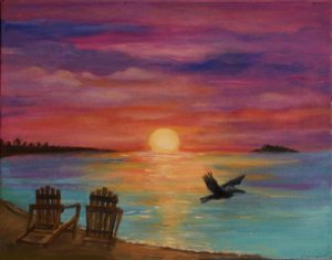 Key West Sunset Painting Print