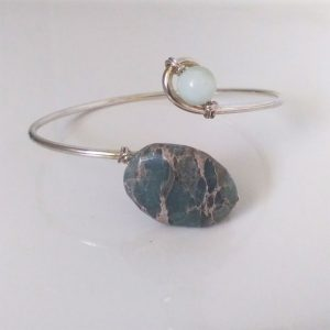 Stone and Silver Bracelet