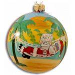 Santa in Hammock Christmas Ornament