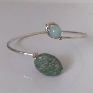 Stone and Silver Bracelet