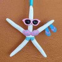 Sunglasses Sandals Starfish Christmas Tree Ornament