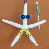 Sunglasses Umbrella Starfish Christmas Tree Ornament