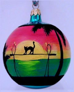 Key West Mallory Square Christmas Ornament