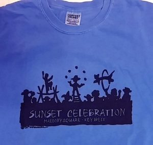 Sunset Sihloette Tee Shirt