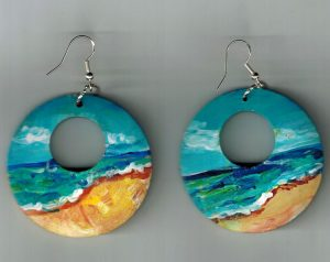 Ocean Beach Painted Earrings
