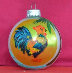 Key West Rooster Christmas Ornament