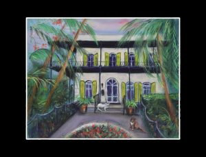 Hemingway House Matted Print