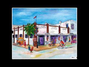 Sloppy Joe's Bar Matted Print