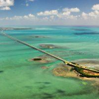 7 Mile Bridge Matted Photo
