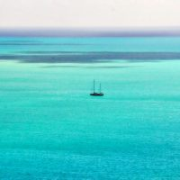 Tranquil Anchorage Matted Photo